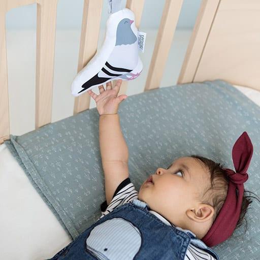 Baby met Soft Toy Duif | NOOX City Kids