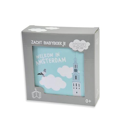 Zacht babyboekje Amsterdam in mooie geschenkverpakking | NOOX City Kids