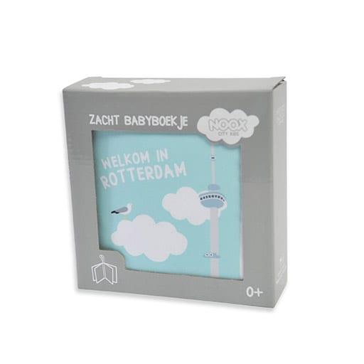Zacht babyboekje Rotterdam in mooie geschenkverpakking   NOOX City Kids