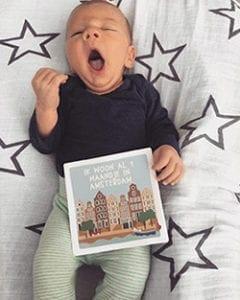 Baby met Mijn eerste Momentjes Kaarten Amsterdam | NOOX City Kids