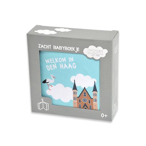 Zacht babyboekje Den Haag in mooie geschenkverpakking | NOOX City Kids