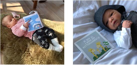 Baby met zacht babyboekje - baby met mijn eerste momentjes kaarten | NOOX City Kids