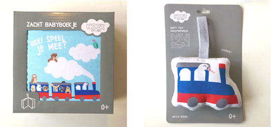 Samples zacht babyboekje en soft toy Plaswijckpark | NOOX City Kids