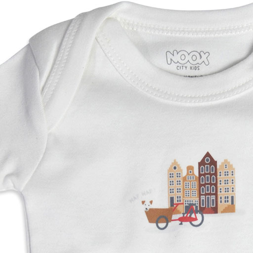 Baby Romper Amsterdam | Originele Kraamcadeaus NOOX City Kids