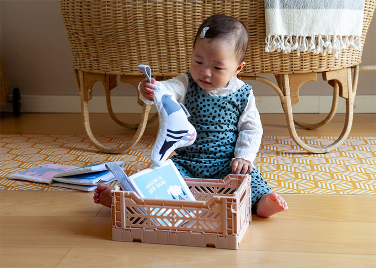 Soft Toy Duif - Zacht Babyboekje   NOOX City Kids