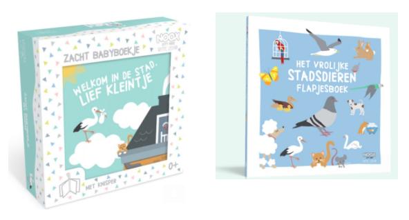 Sneak Peek Zacht Babyboekje en Flapjesboek Leopold - Witte Leeuw | NOOX City Kids