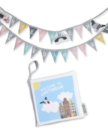 cadeaupakket amsterdam met boekje en slinger | NOOX City Kids