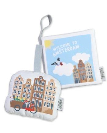 Cadeaupakket Amsterdam met boekje en soft toy | NOOX City Kids