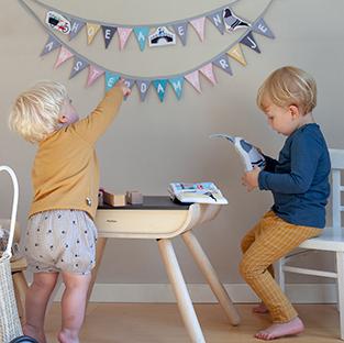 Geboorteslinger Amsterdam Blauw Roze   NOOX City Kids