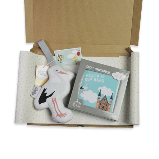 Mini kraampakket Den haag met boekje en ooievaar | NOOX City Kids