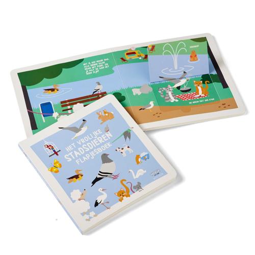 Het vrolijke stadsdieren flapjesboek   NOOX City Kids