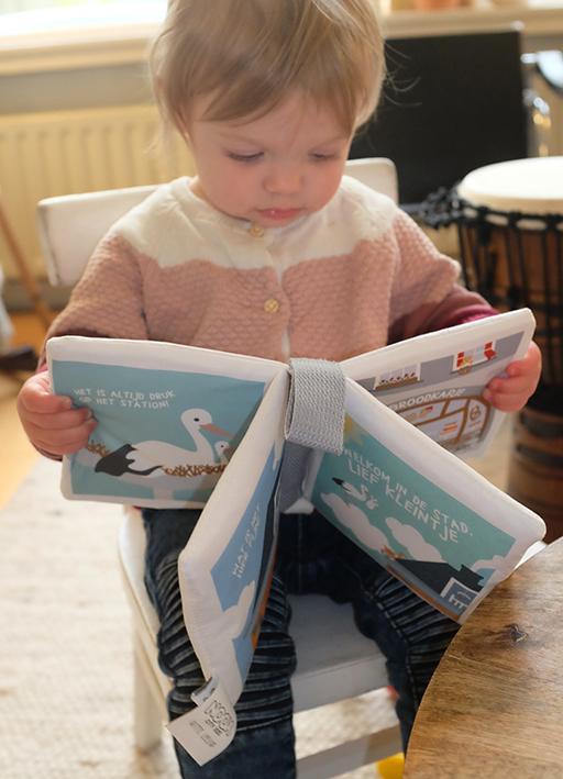 Zacht babyboekje Welkom in de Stad lief kleintje | NOOX City Kids