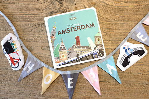Kartonnen Boekje Dit is Amsterdam en geboorteslinger 'Hoera een Amsterdammertje'   NOOX City Kids