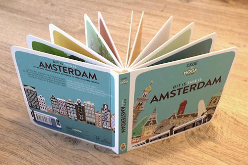 Kartonnen Boekje Dit is Amsterdam   NOOX City Kids