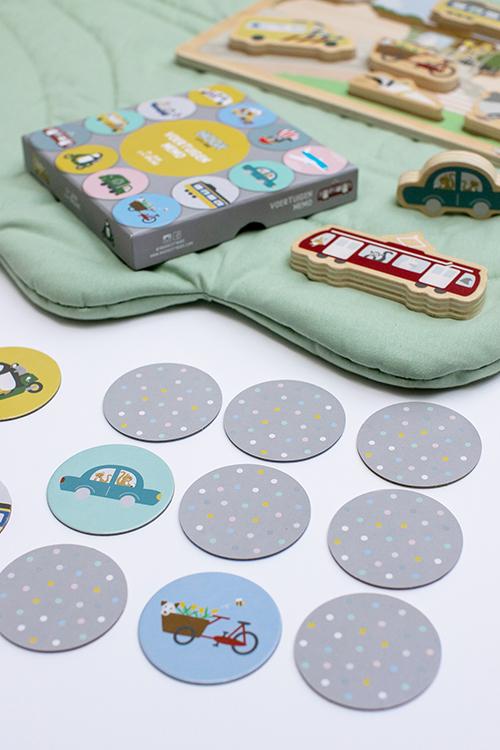 Houten chunky blocks puzzel Stad en Memo Spel | NOOX City Kids
