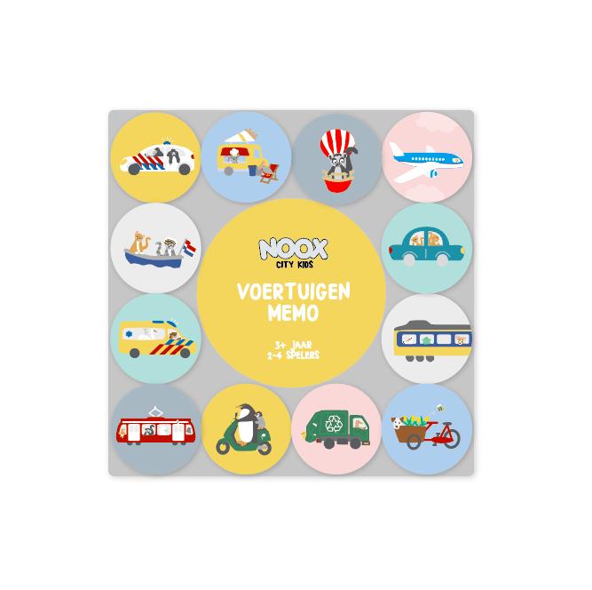 Memo Spel Voertuigen | NOOX City Kids