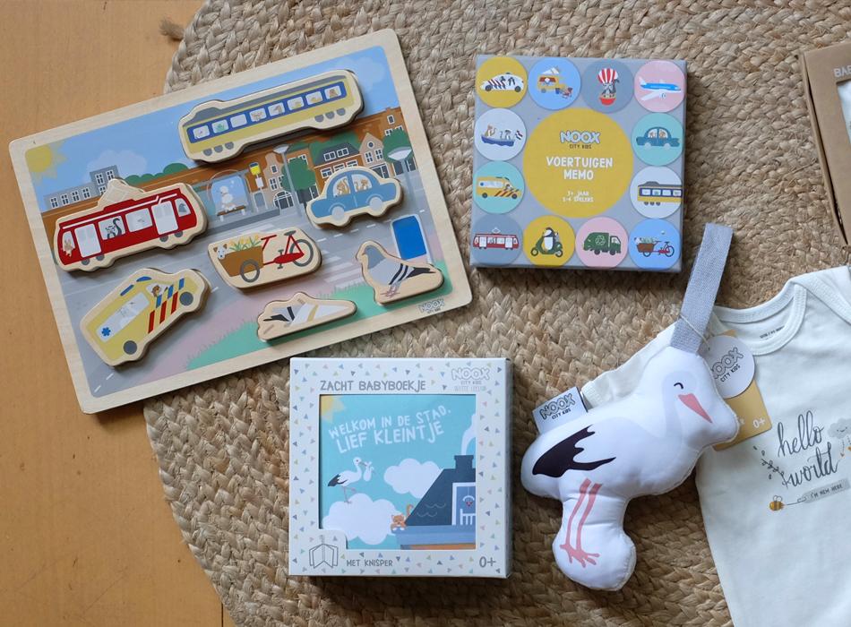 Originele kraamcadeaus voor kleine stadsbewonertjes NOOX City Kids