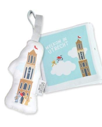 Mini Cadeaupakket Utrecht met boekje en knuffeldom | NOOX City Kids