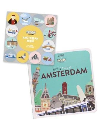Speelgoedpakket Amsterdam 1+ jaar met boekje en memo spel | NOOX City Kids