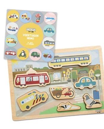 Speelgoedpakket 1+ jaar met memo spel en puzzel | NOOX City Kids