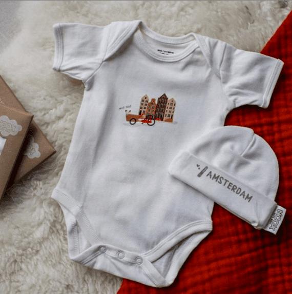 Cadeaupakket Amsterdam met romper en mutsje | NOOX City Kids