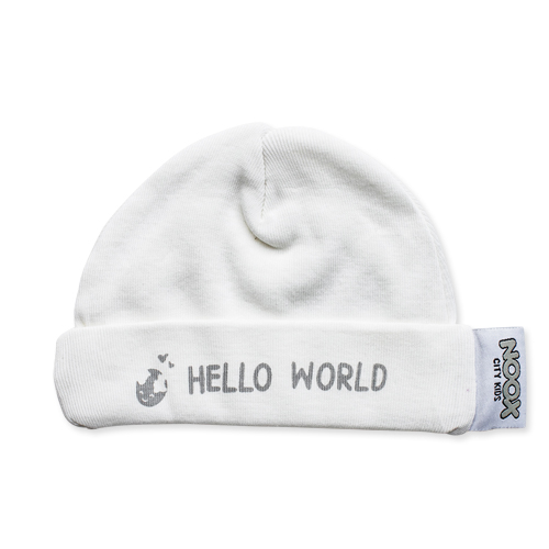 Babymutsje Hello World | NOOX City Kids