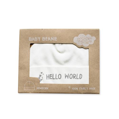 Babymutsje Hello World   NOOX City Kids