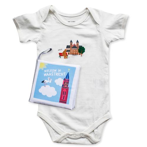 Zacht babyboekje en romper Maastricht | NOOX City Kids