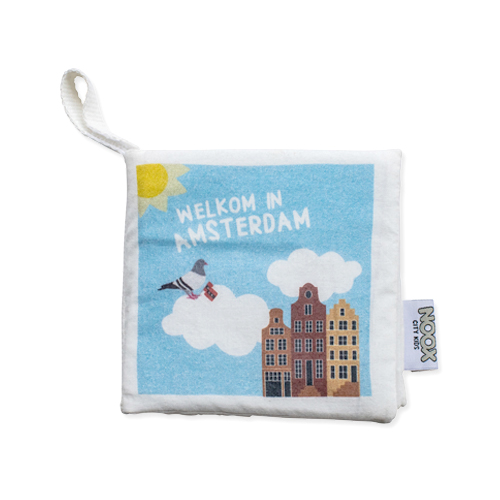 Zacht Babyboekje Amsterdam 100% fairly made en 100% zacht katoen | NOOX City Kids