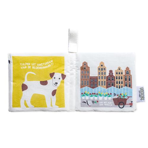 Zacht Babyboekje Amsterdam 100% fairly made en 100% zacht katoen   NOOX City Kids